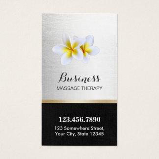 Cartão De Visitas O Plumeria da terapia da massagem floresce termas