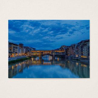 Cartão De Visitas O Ponte Vecchio em Florença