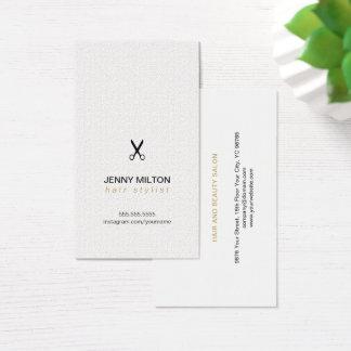 Cartão De Visitas O preto branco da textura elegante Scissors o