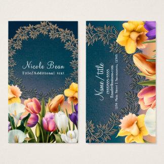 Cartão De Visitas O primavera floresce o costume chique elegante do