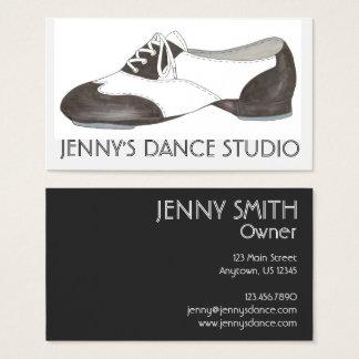 Cartão De Visitas O professor preto da dança dos calçados da