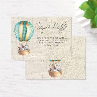 Cartão De Visitas O Raffle da fralda do chá de fraldas Tickets o
