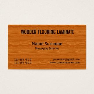 Cartão De Visitas O revestimento de madeira duro de madeira