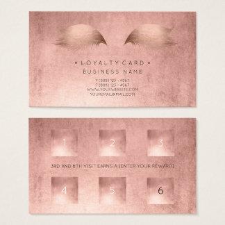 Cartão De Visitas O rosa da beleza do cliente do perfurador do