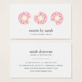 Cartão De Visitas O rosa polvilha a filhós