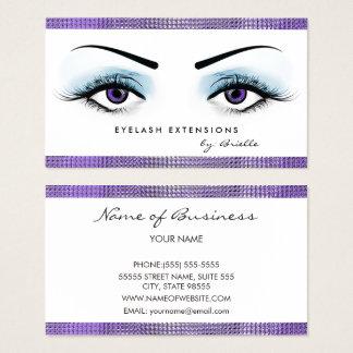 Cartão De Visitas O roxo chique Eyes o boutique feminino das