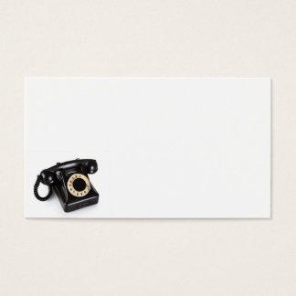 Cartão De Visitas O telefone preto velho do vintage com giratório