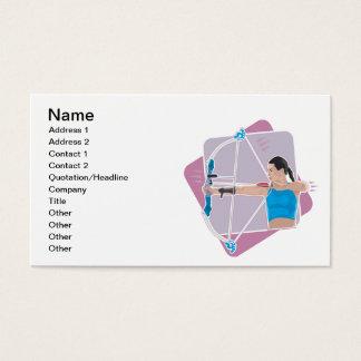 Cartão De Visitas O tiro ao arco das mulheres