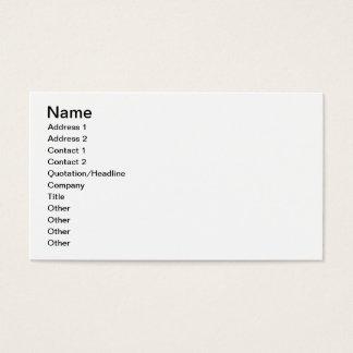 Cartão De Visitas O tocador de gaita-de-foles