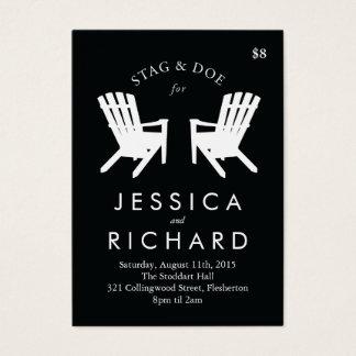 Cartão De Visitas O veado e a gama da cadeira de Muskoka Ticket o