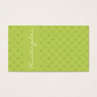 Cartão De Visitas O verde no verde com amarelo circunda a lealdade