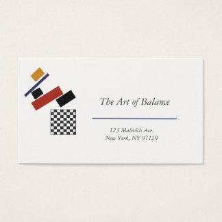 Cartão De Visitas O verificador super, após Malevich