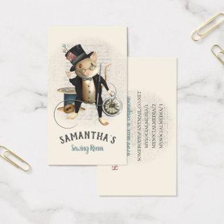 Cartão De Visitas O Victorian Sewing do rato inspirou a ilustração