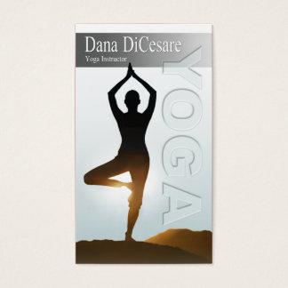 Cartão De Visitas O Vinyasa de Dana & o instrutor da ioga do poder