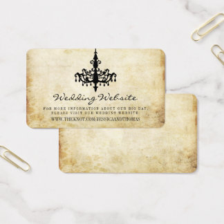 Cartão De Visitas O Web site da coleção do casamento do candelabro