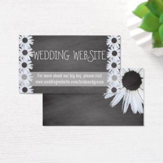 Cartão De Visitas O Web site do casamento do quadro carda flores da