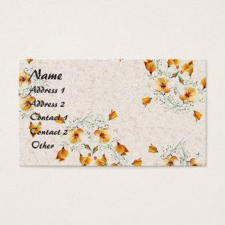 Cartão De Visitas O Wildflower da papoila de Califórnia floresce o