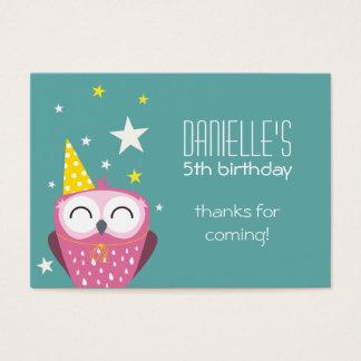 Cartão De Visitas Obrigado cor-de-rosa bonito do aniversário da