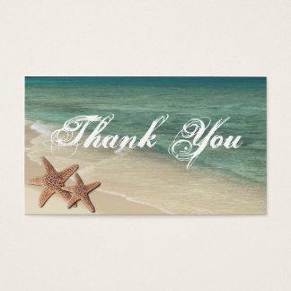 Cartão De Visitas Obrigado da estrela do mar do mar você Tag do