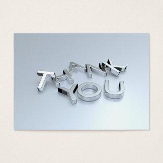 """Cartão De Visitas Obrigado da prata 3D você carda 100 blocos 3,5"""" x"""