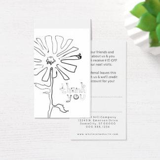Cartão De Visitas obrigado da referência você flor do squiggle