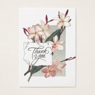 Cartão De Visitas Obrigado da referência você Plumeria cor-de-rosa