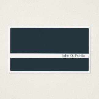 Cartão De Visitas Obscuridade moderna minimalista - azul cinzento