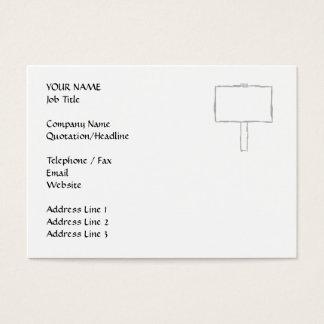 Cartão De Visitas Observação do letreiro. Cinzas e branco