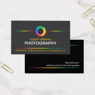 Cartão De Visitas Obturador colorido do fotógrafo
