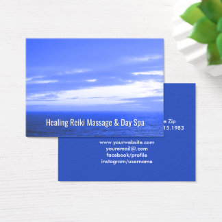 Cartão De Visitas Oceano holístico alternativo da saúde de Reiki |