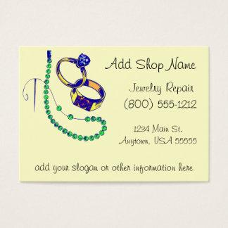 Cartão De Visitas Oficina de reparações da jóia