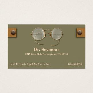 Cartão De Visitas Oftalmologista, optometrista, óptico para os olhos
