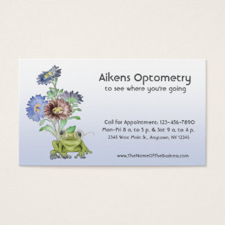Cartão De Visitas Oftalmologista, optometrista, sapo do óptico
