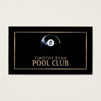 Cartão De Visitas Oito bola, clube da piscina