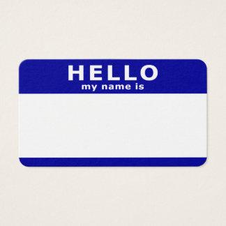 Cartão De Visitas olá! meu nome é