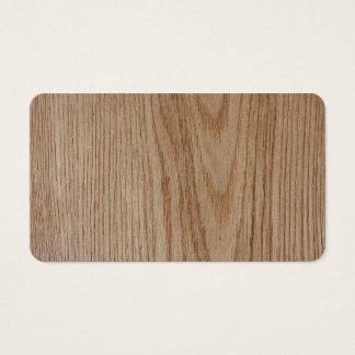 Cartão De Visitas Olhar da grão da madeira de carvalho