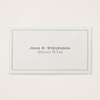 Cartão De Visitas Olhar de linho macio do advogado clássico