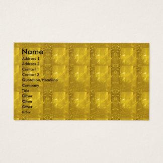 Cartão De Visitas Olhar de pedra de cristal dourado