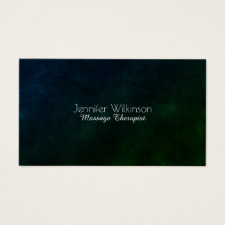 Cartão De Visitas Olhar de pedra natural da máscara verde escuro