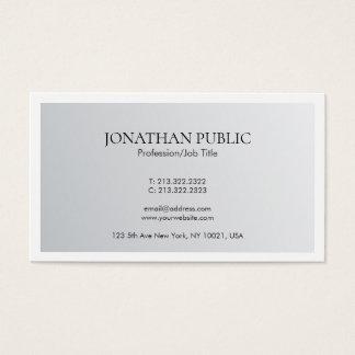 Cartão De Visitas Olhar de prata elegante na moda do design mínimo