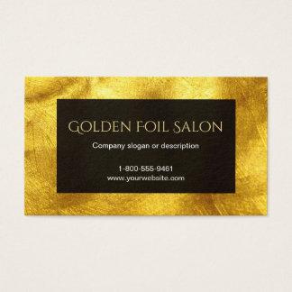 Cartão De Visitas Olhar dourado da folha do falso com preto