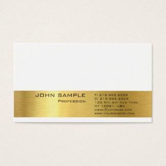 Cartão De Visitas Olhar elegante liso moderno profissional do ouro