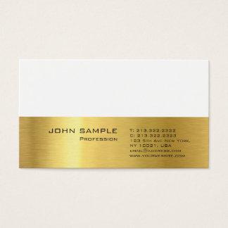 Cartão De Visitas Olhar elegante liso profissional moderno do ouro