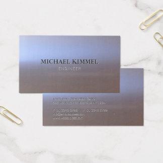 Cartão De Visitas Olhar escovado moderno S01 do metal customizável