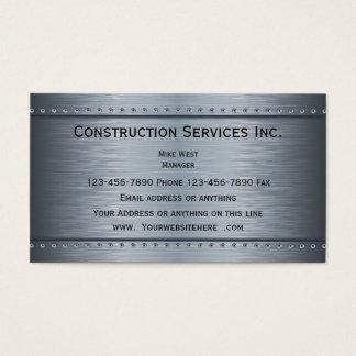Cartão De Visitas Olhar metálico da construção