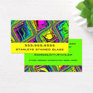 Cartão De Visitas Olhar telhado colorido do vitral