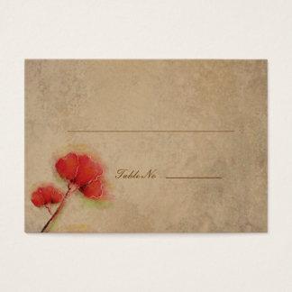 Cartão De Visitas Olhar vermelho do pergaminho das papoilas do