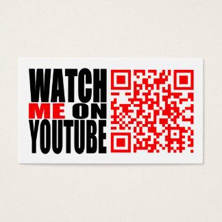 Cartão De Visitas Olhe-me em YouTube   modernos (escuro)