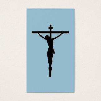Cartão De Visitas Olhe o crucifixo, azul