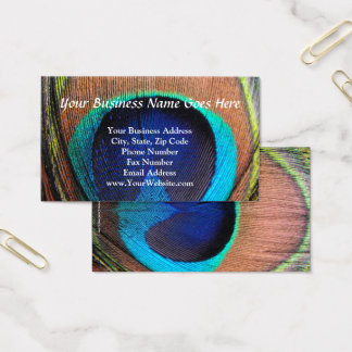 Cartão De Visitas Olho do Fim-Acima da pena do pavão